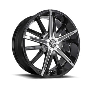 Diablo Wheels - Black Dagger with Chrome Insert