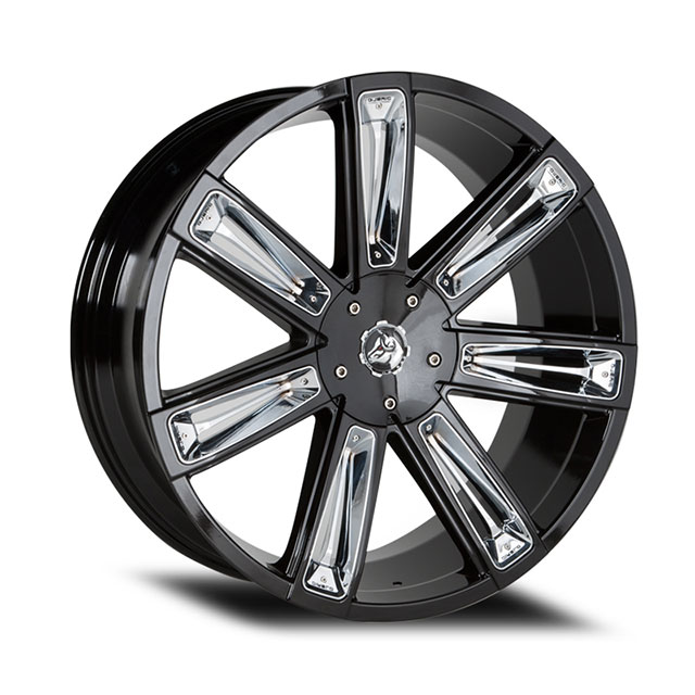 Diablo Wheels - Rogue black with chrome inserts