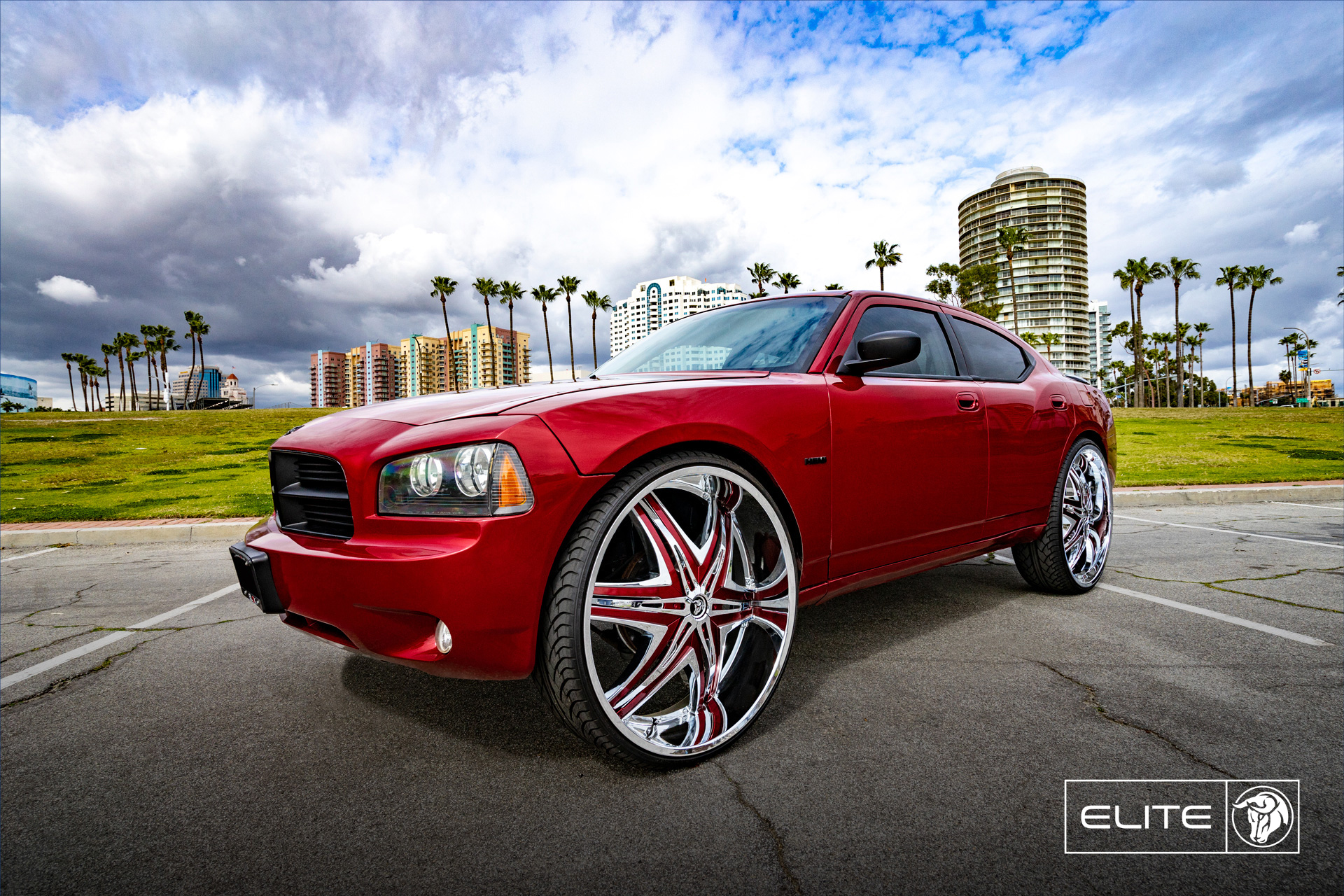 Elite 30inch Diablo Wheels Chrome Dodge Charger