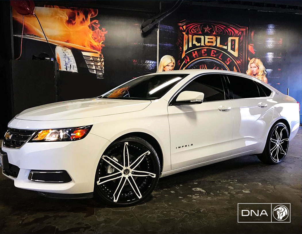 Diablo Wheels - DNA on a Chevrolet Impala White