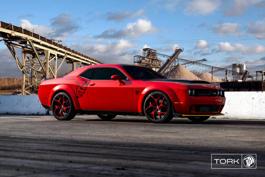 Diablo Wheels Tork Red Dodge Demon
