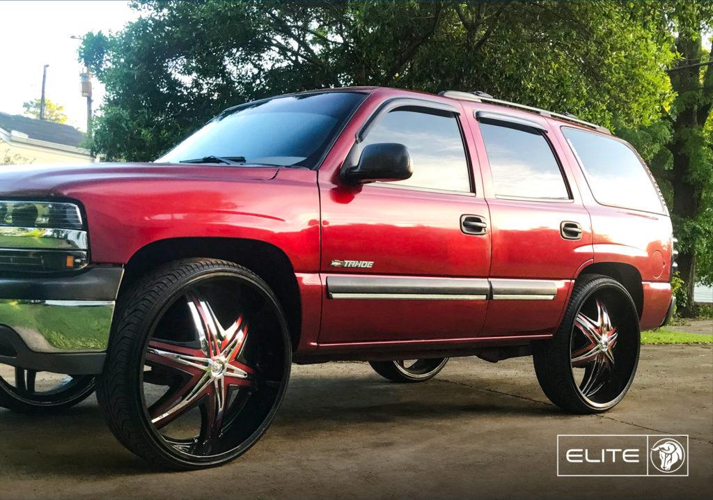 Elite Diablo Wheels Chevrolet Tahoe Red
