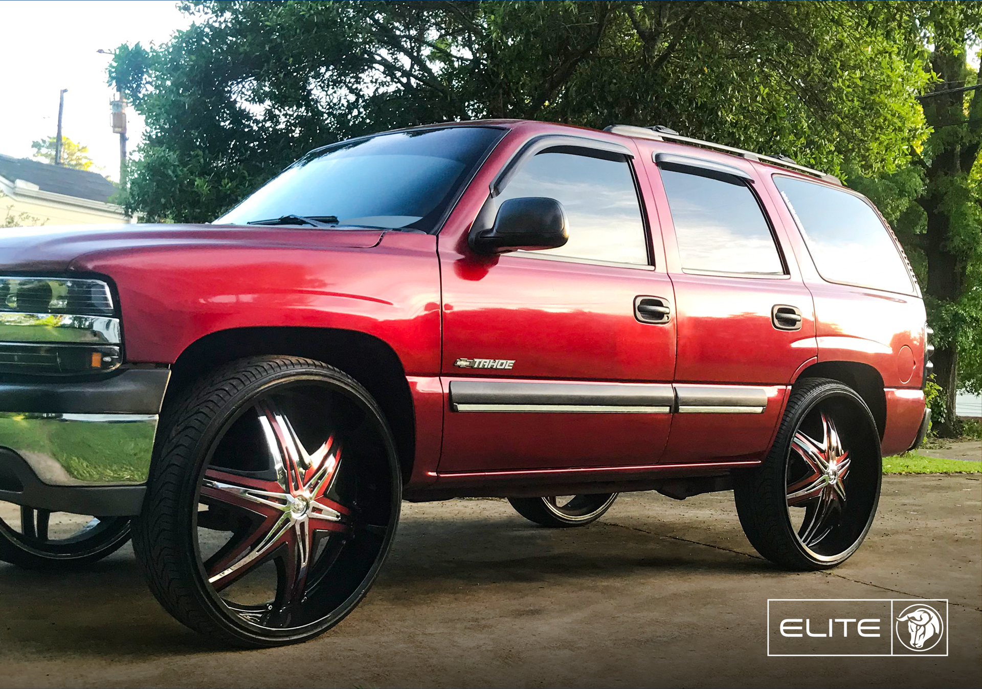 Elite Diablo Wheels Chevrolet Tahoe Red