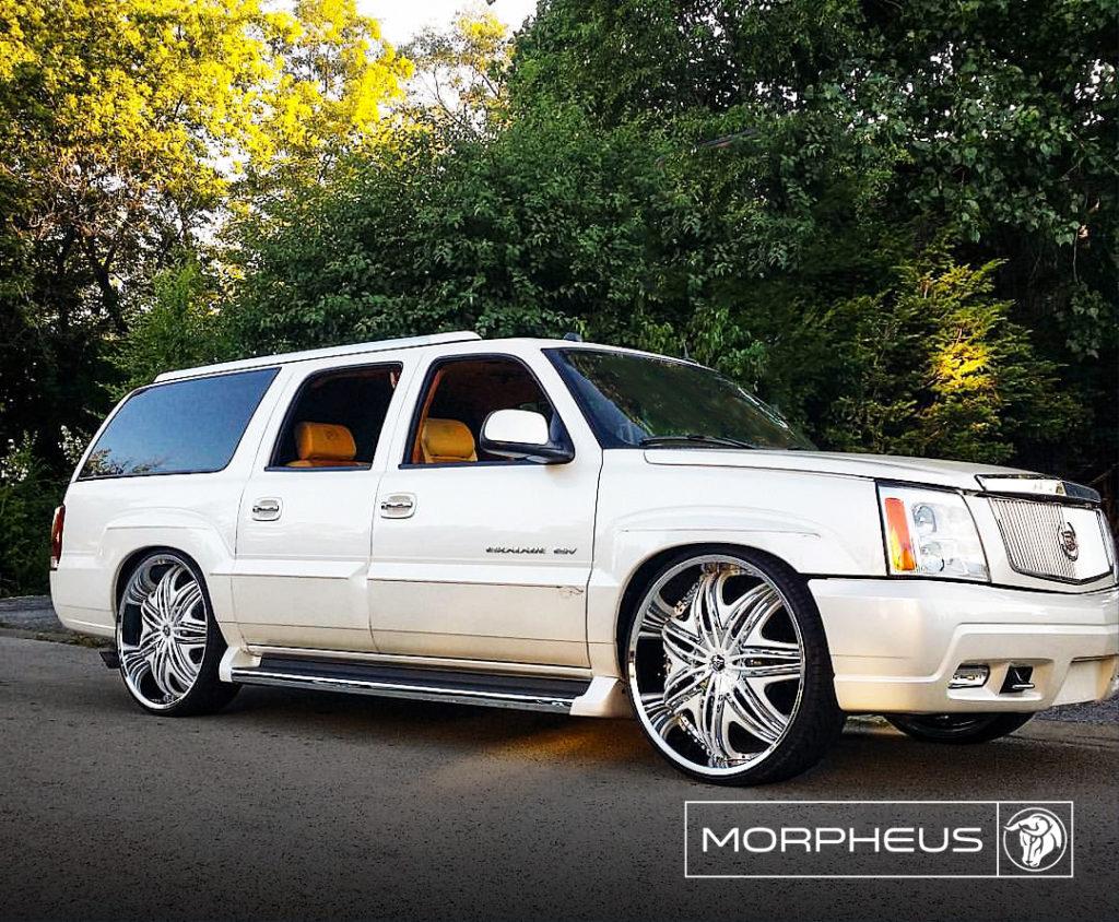 Morpheus Diablo Wheels Bagged Cadillac Escalade