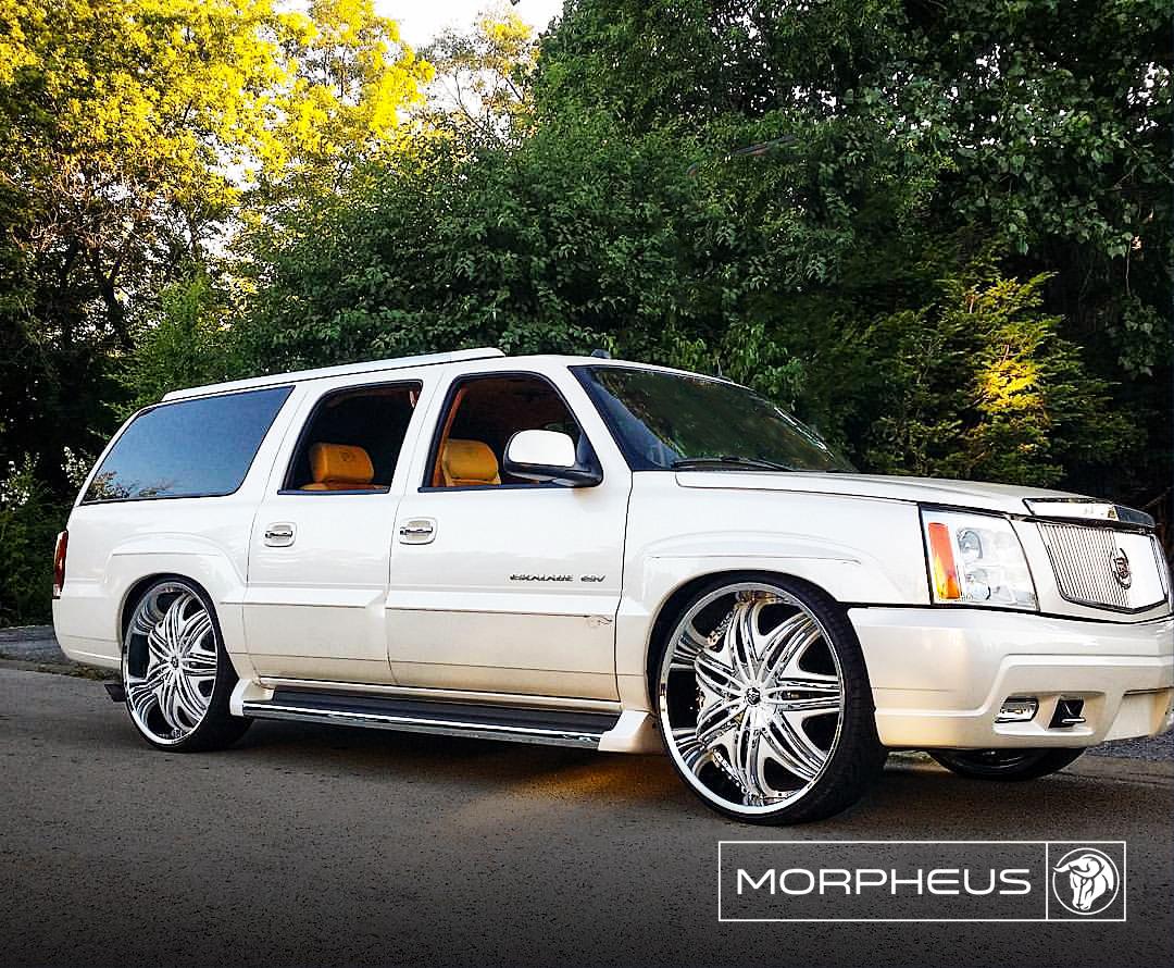 Diablo Wheels - Morpheus on a Bagged Cadillac Escalade