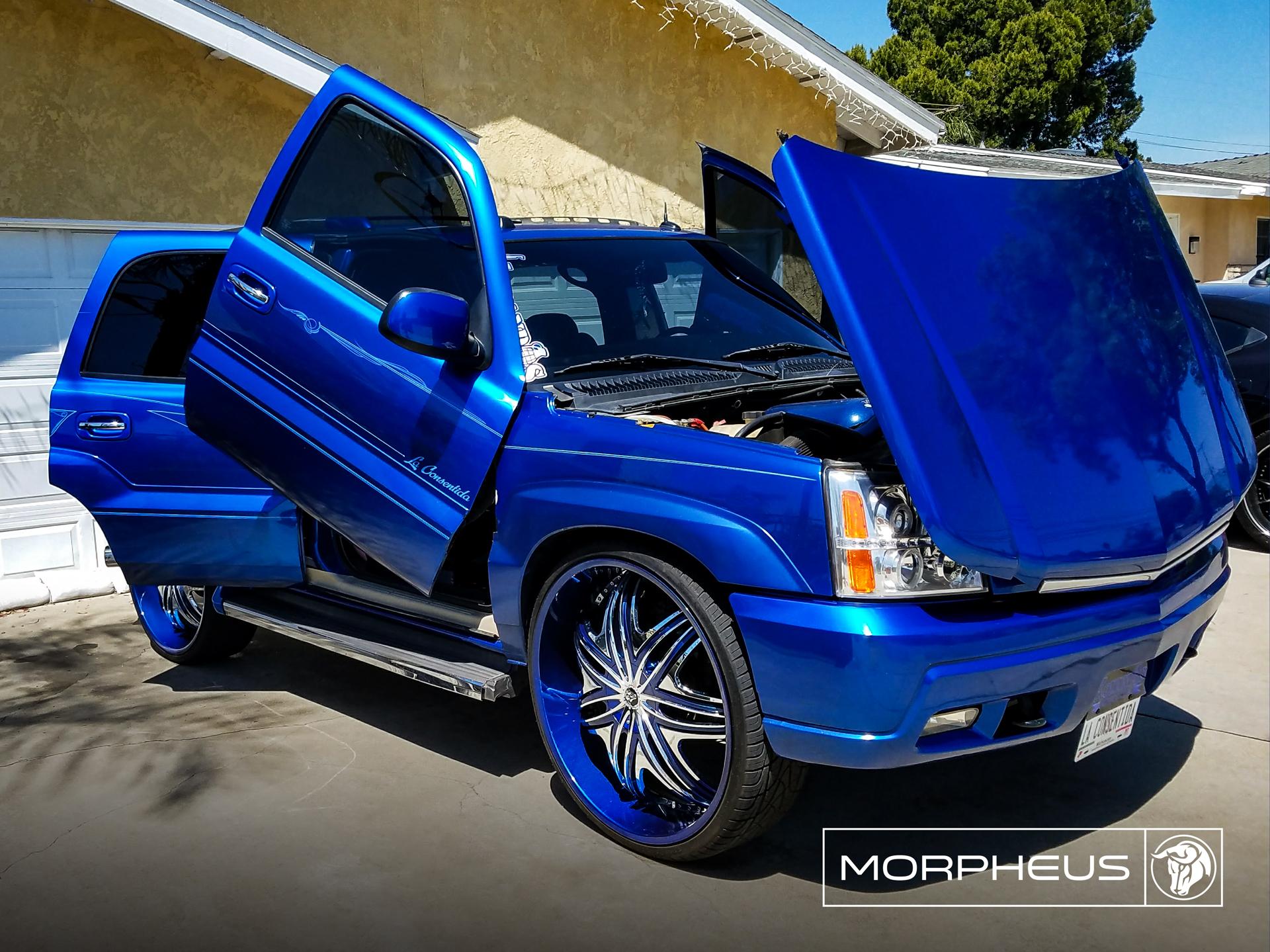 Morpheus Diablo Wheels Cadillac Escalade Blue