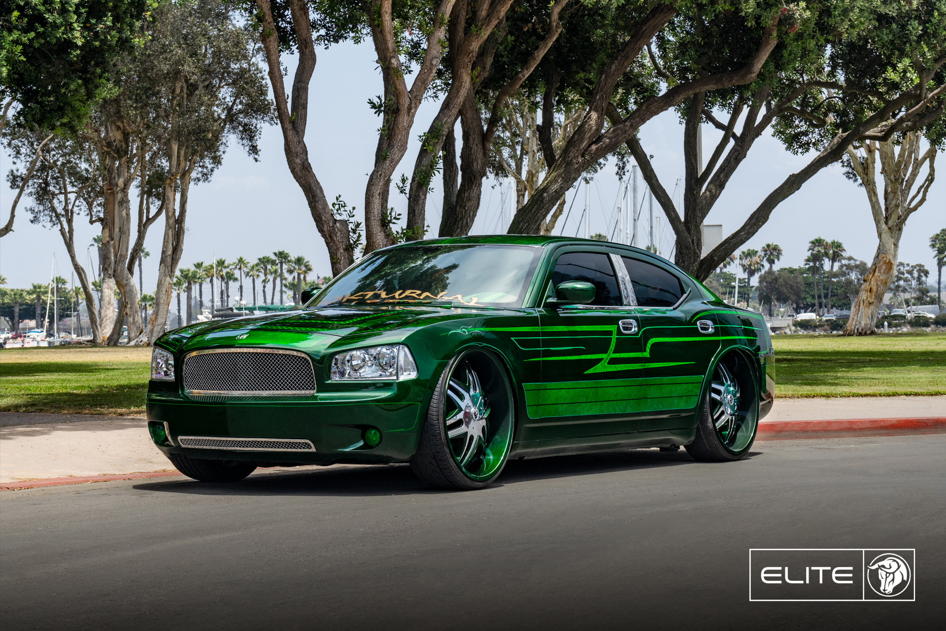 Elite Diablo Wheels Custom Dodge Charger Nokturnal Car Club
