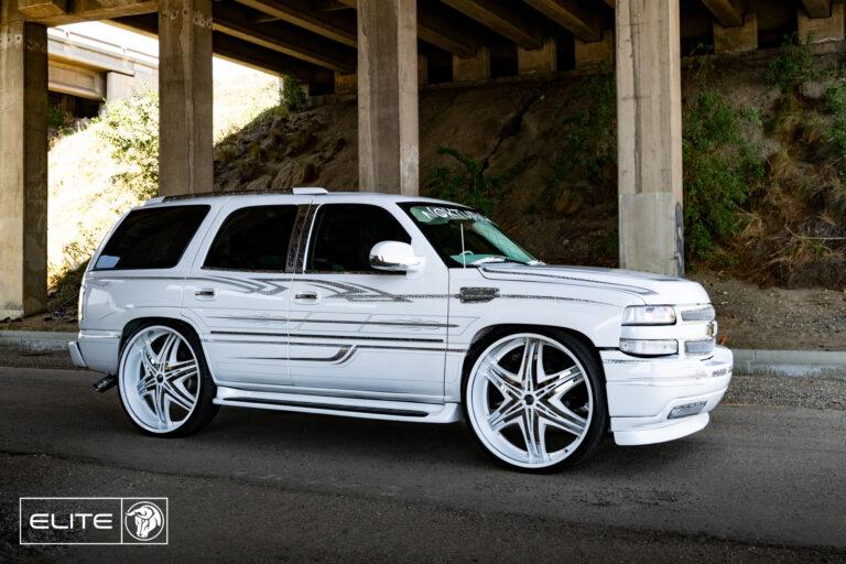 Elite Diablo Wheels Chevrolet Tahoe NOK White