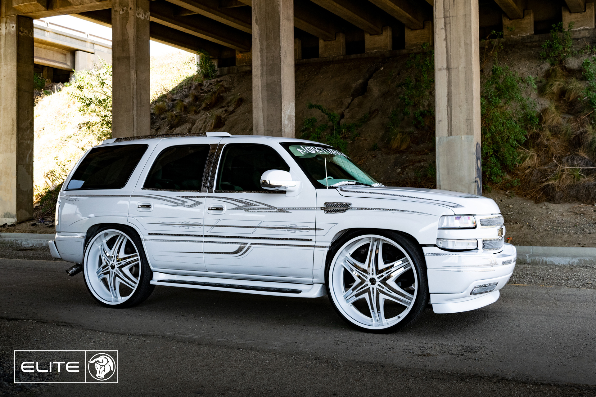 Elite Diablo Wheels Chevrolet Tahoe NOK White