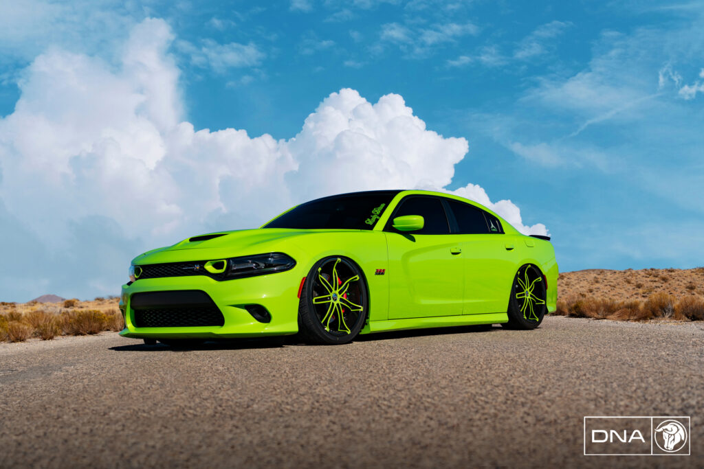 DNA Diablo Wheels Bagged Dodge Charger Scat Pack