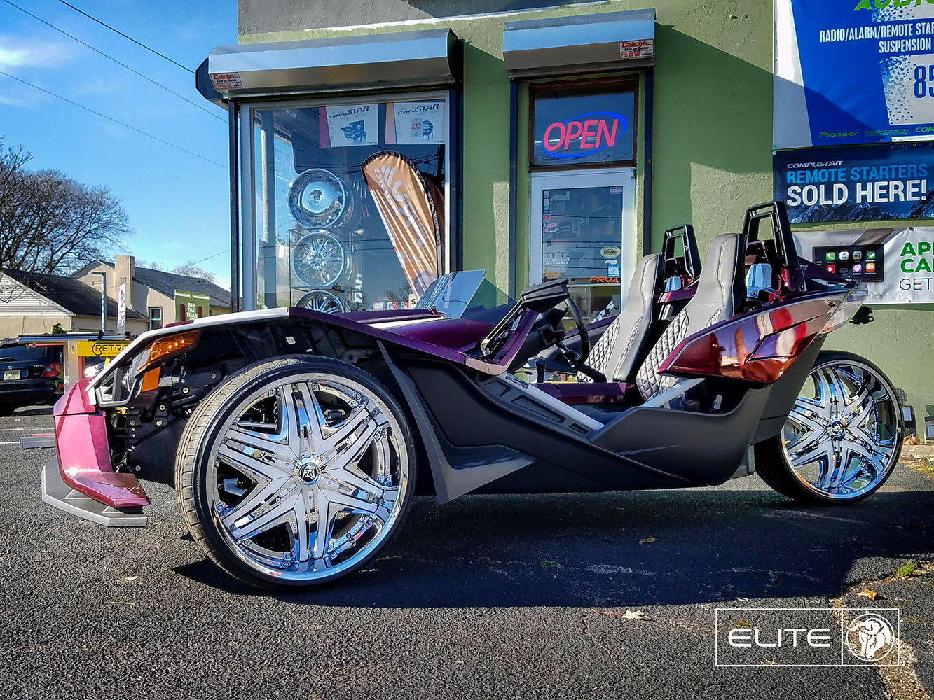Diablo Elite on a Polaris Slingshot