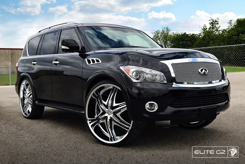 Diablo Wheels - EliteG2 on an Infiniti SUV Black Chrome