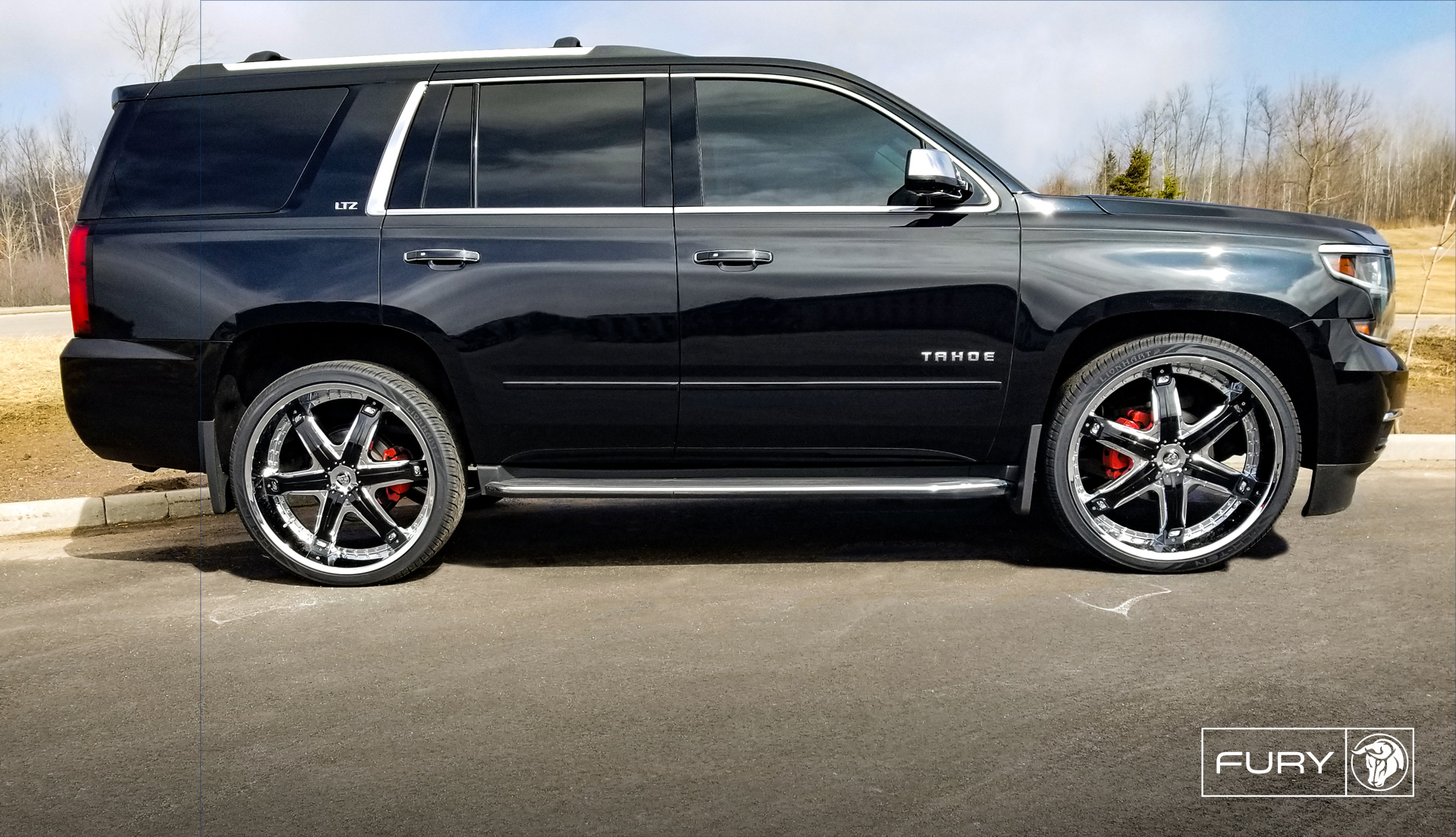 Diablo Wheels - Fury on a Black Chevrolet Tahoe LTZ