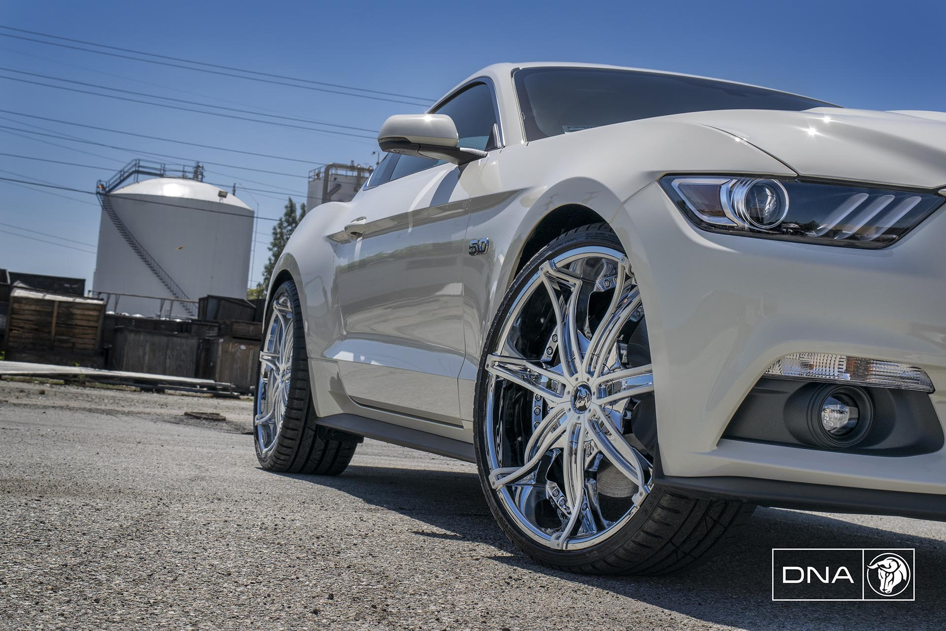 Chrome Diablo DNA Wheels on a Ford Mustang