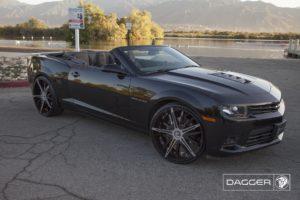 Black Diablo Dagger Wheels on a Chevy Camaro