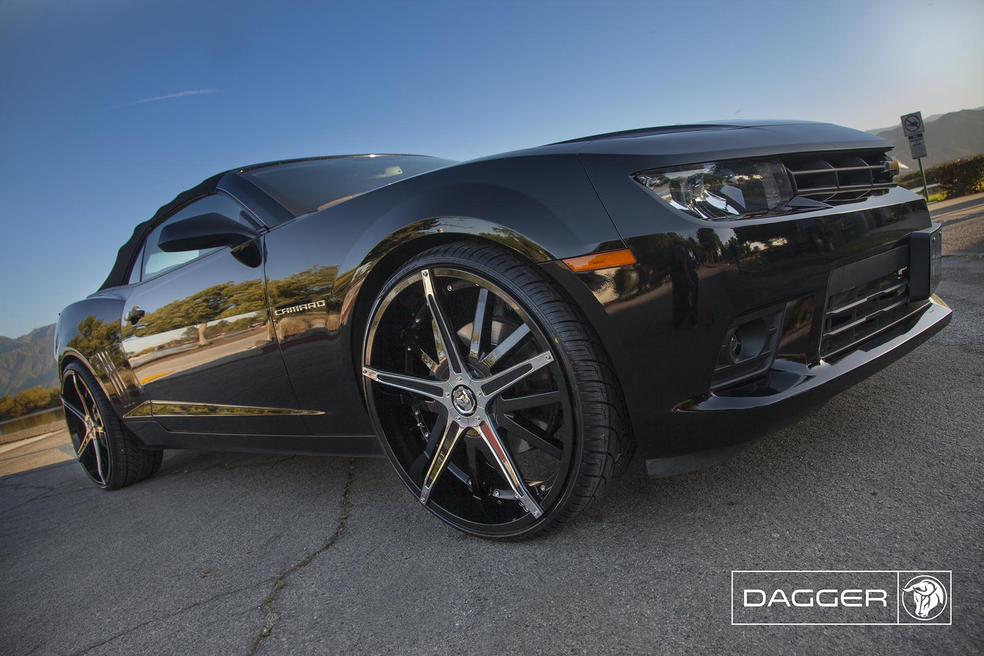Black Diablo Dagger Wheels on a Chevy Camaro