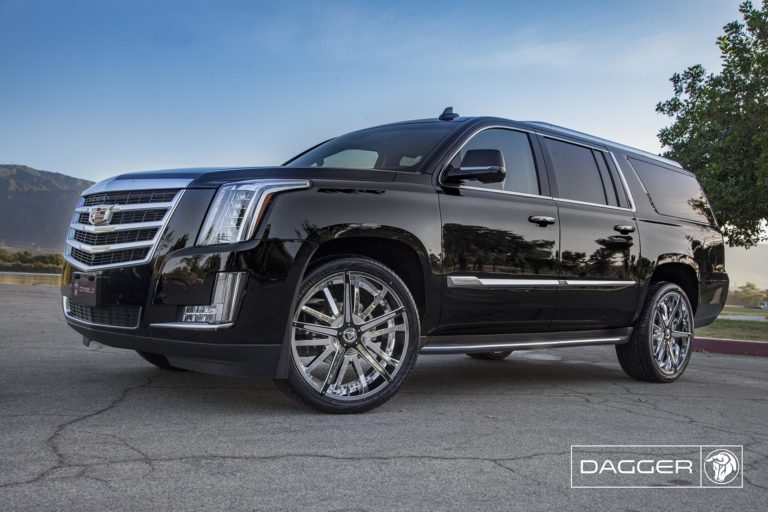 Chrome Diablo Dagger Wheels on a Cadillac Escalade