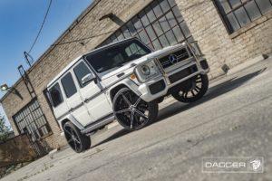 Black Diablo Dagger Wheels on a Mercedes G-Wagon G63 AMG