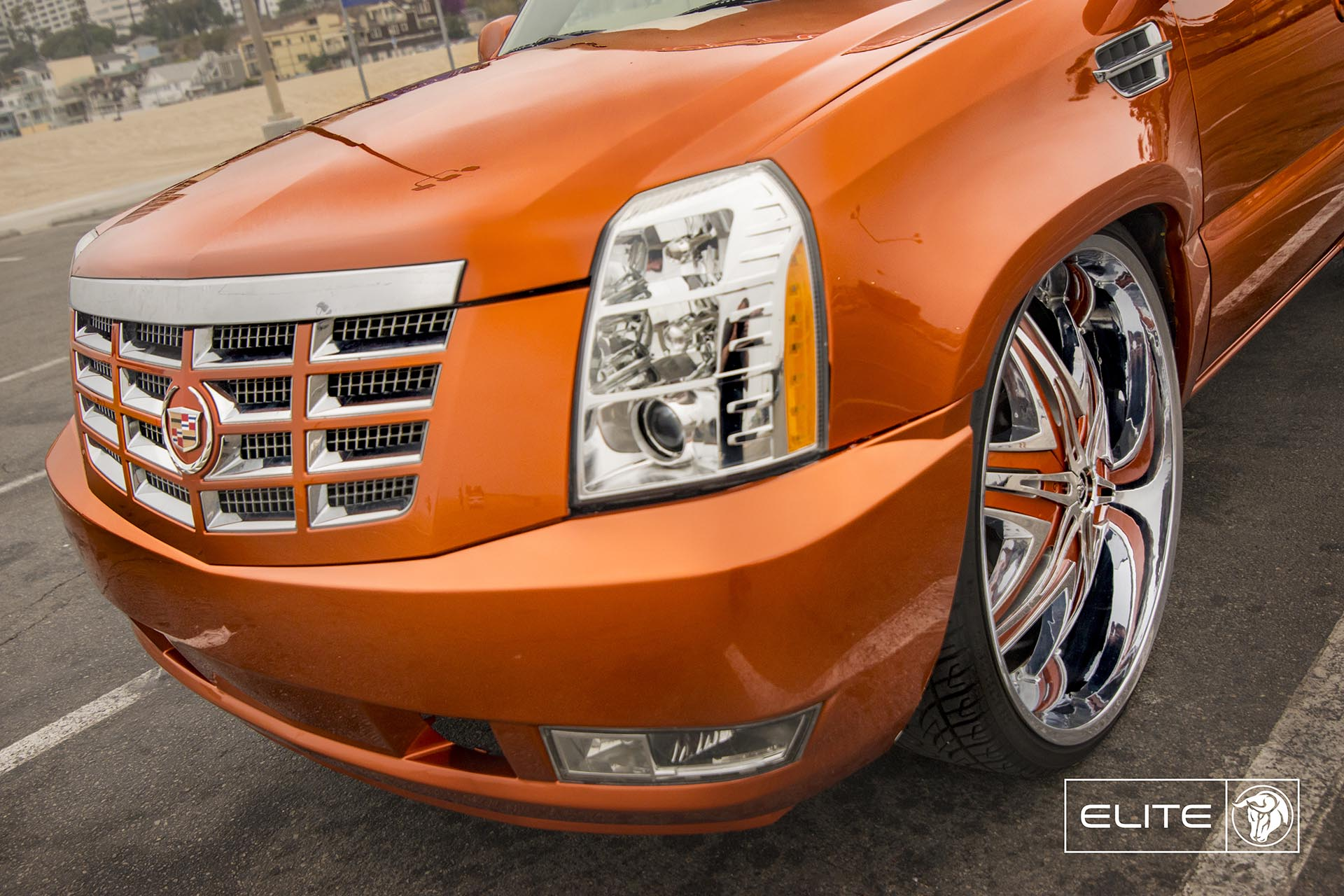 Diablo Elite Wheels on a Chevy Silverado with an Escalade Font End