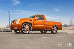 Diablo Elite Wheels on a Chevy Silverado with an Escalade Font End