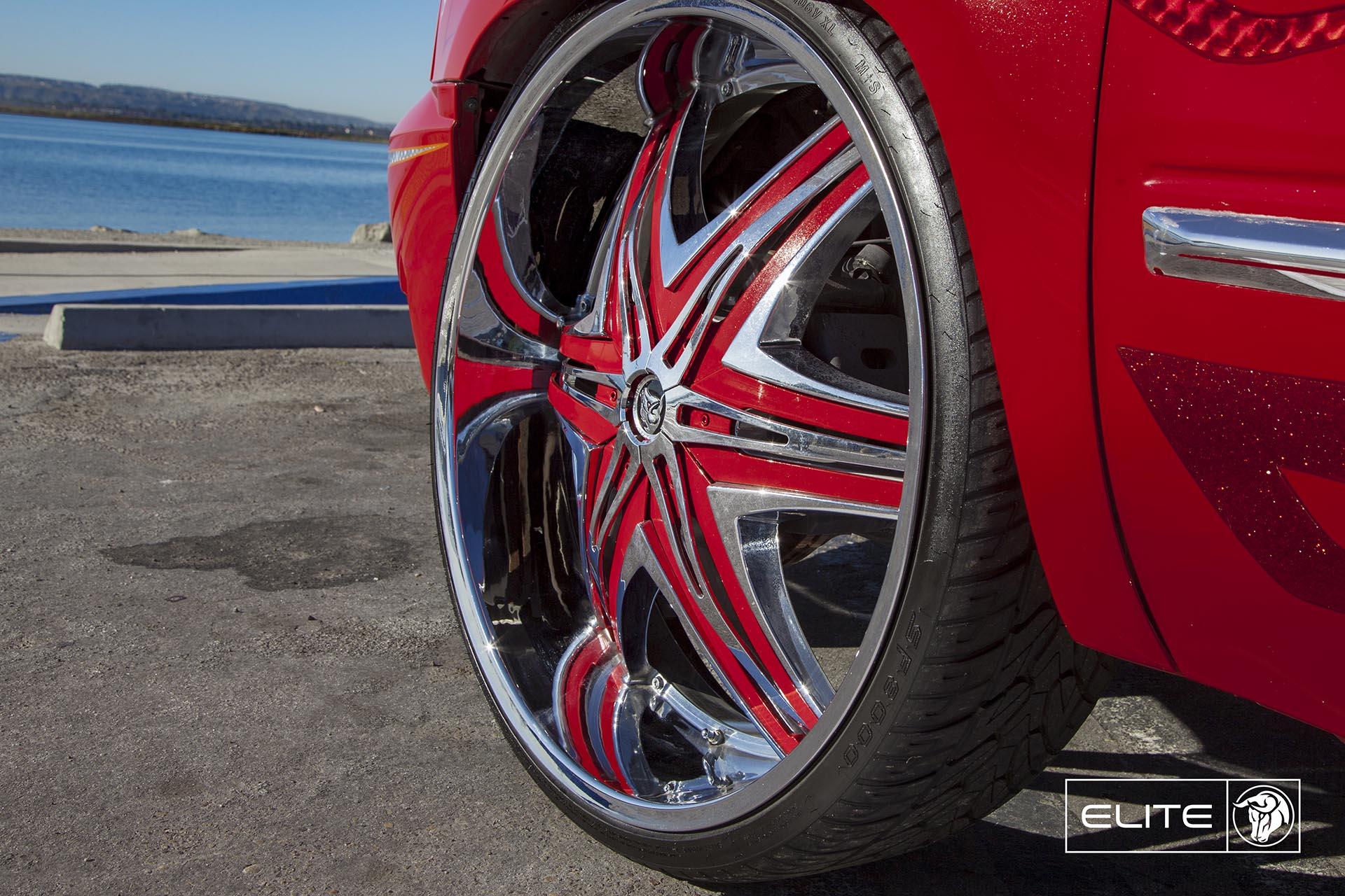 Chrome Diablo Elite Wheels on a Chevy Silverado