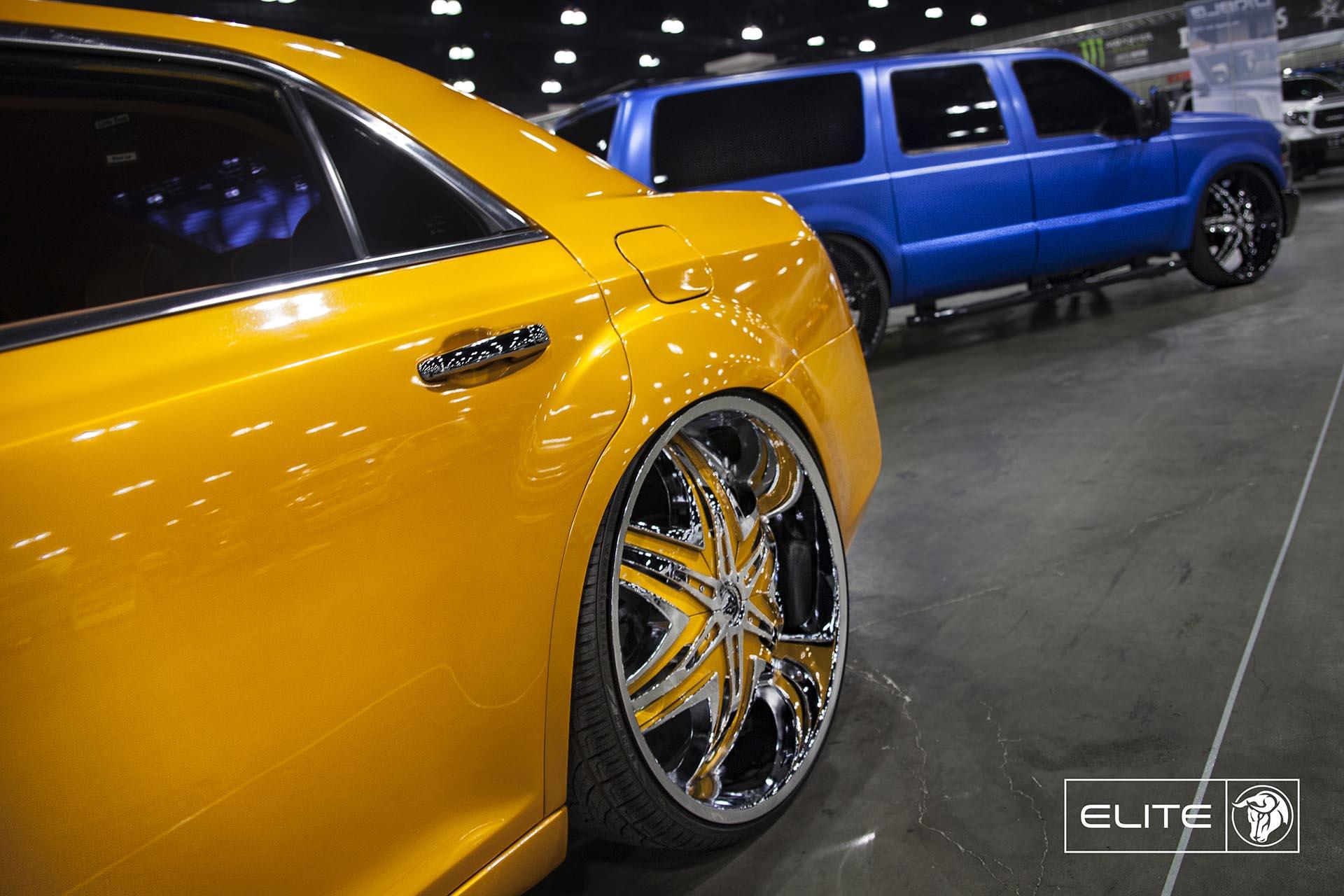 Chrome Diablo Elite Wheels on a Chrysler 300C