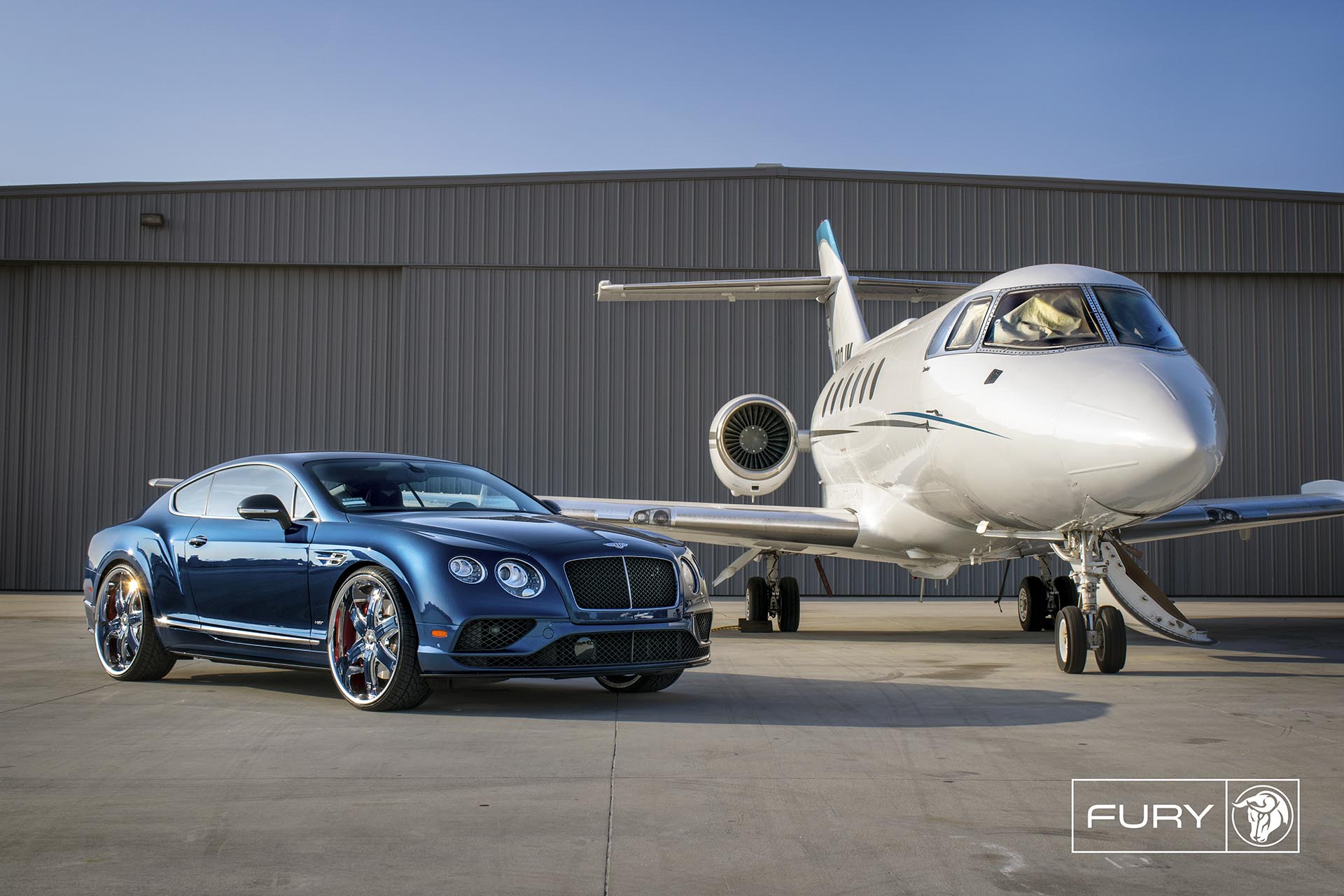 Chrome Diablo Fury Wheels on a Bentley Continental - Featuring Lina Posada