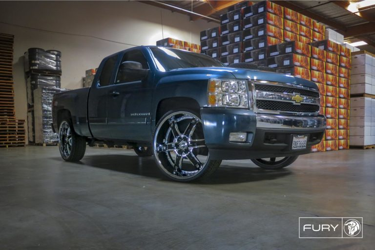 Black Diablo Fury Wheels on a Chevy Silverado