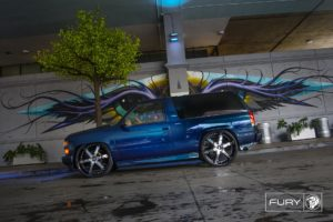 28″ Black Diablo Fury Wheels on a Chevy Tahoe