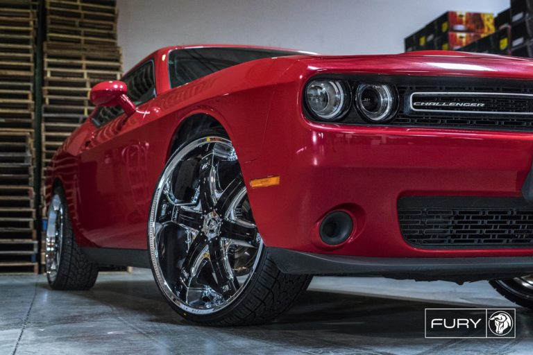 Chrome Diablo Fury Wheels on a Dodge Challenger