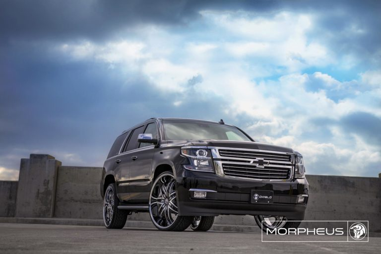 Chrome Diablo Morpheus Wheels on a Chevy Tahoe