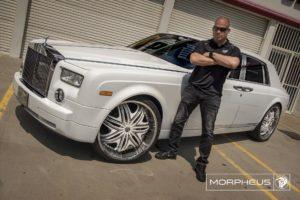 Chrome Diablo Morpheus Wheels on a Rolls Royce Phantom VII – Featuring Tito Ortiz