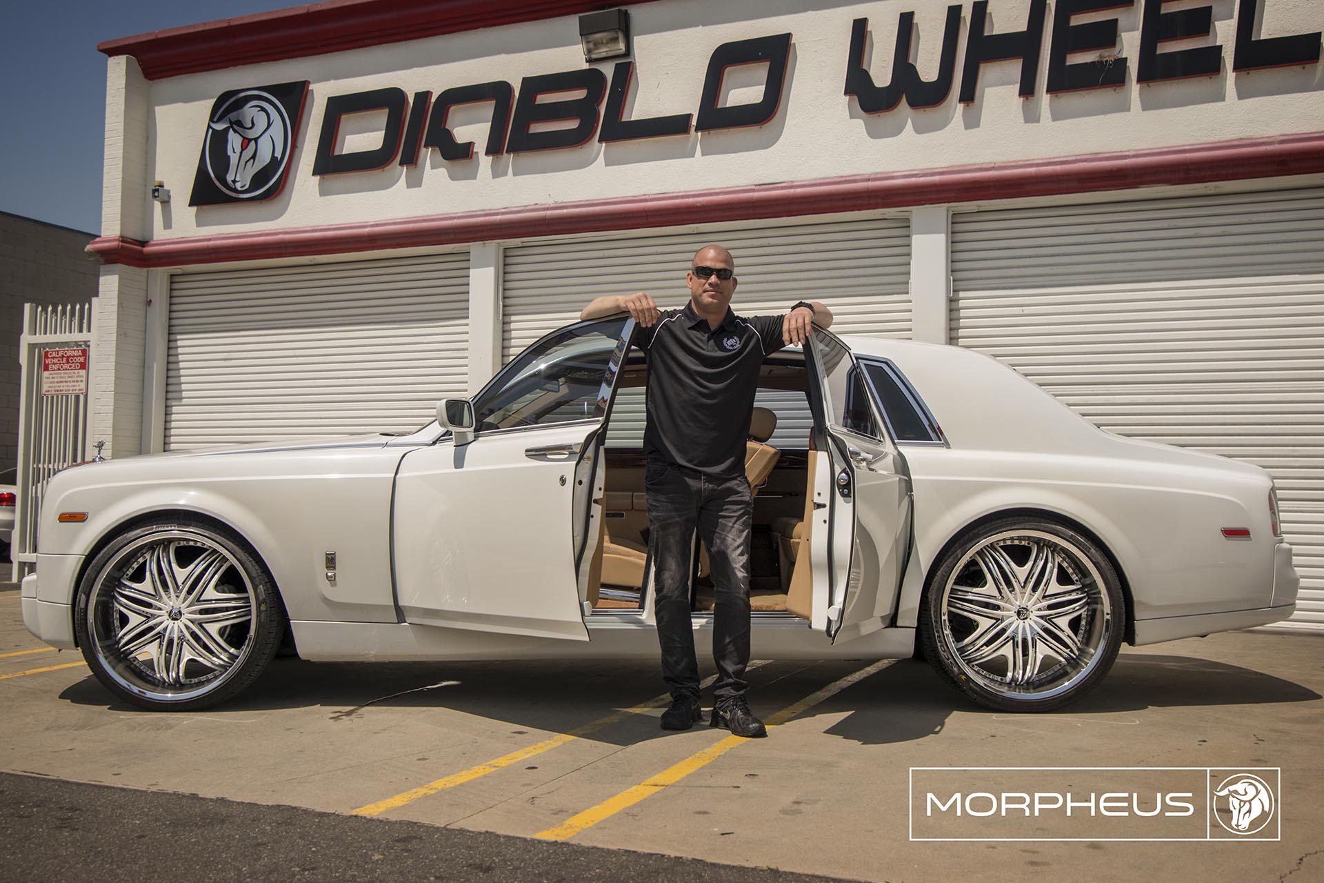 Chrome Diablo Morpheus Wheels on a Rolls Royce Phantom VII - Featuring Tito Ortiz