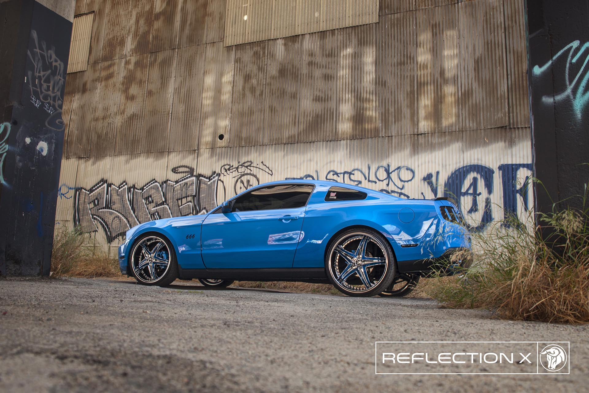 Diablo Reflection X Wheels on a Ford Mustang