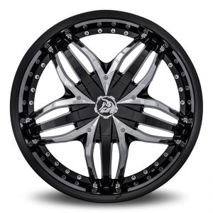 Diablo Angel Aftermarket Wheel - Black with Chrome Inserts