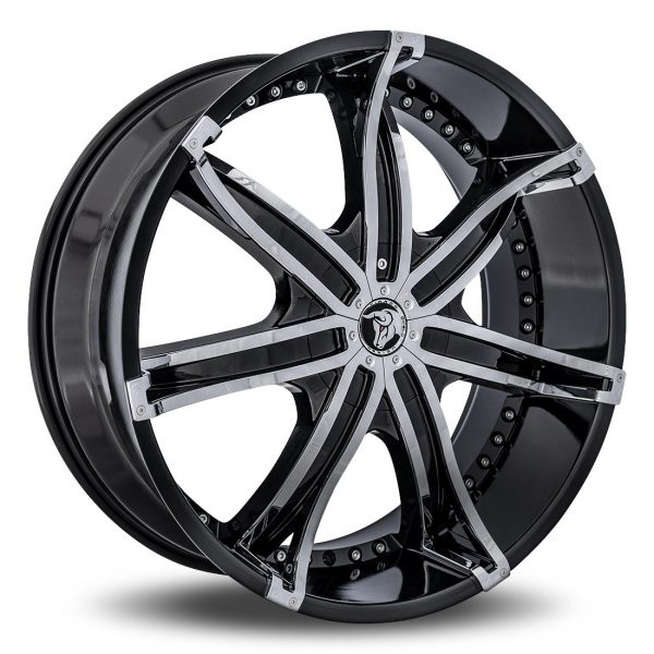 Diablo DNA Aftermarket Wheel - Black with Chrome Inserts