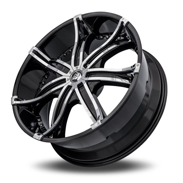 Diablo DNA Aftermarket Wheel – Black with Chrome Inserts