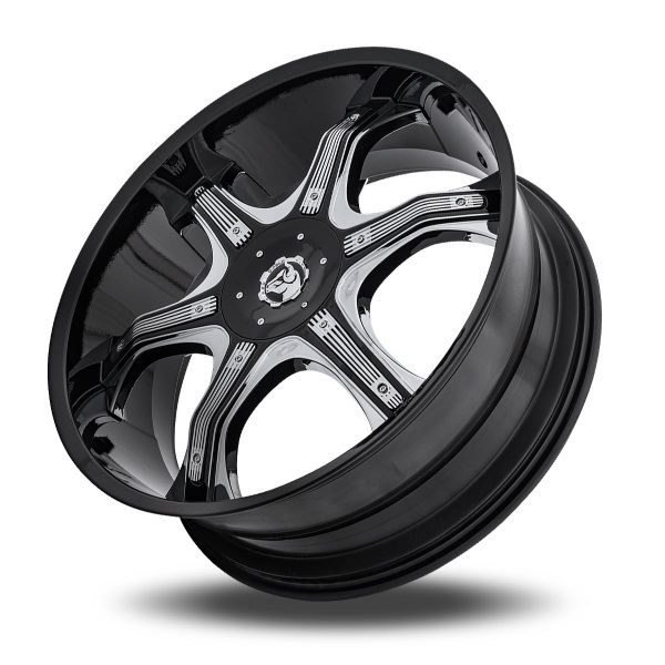 Diablo Grill Aftermarket Wheel – Black with Chrome Inserts