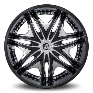 Diablo Morpheus Aftermarket Wheel - Black with Chrome Inserts