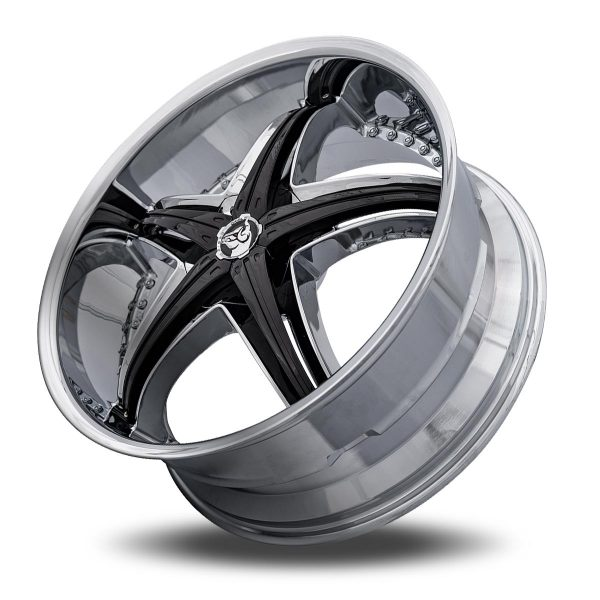 Diablo Reflection X Aftermarket Wheel – Chrome with Black Inserts