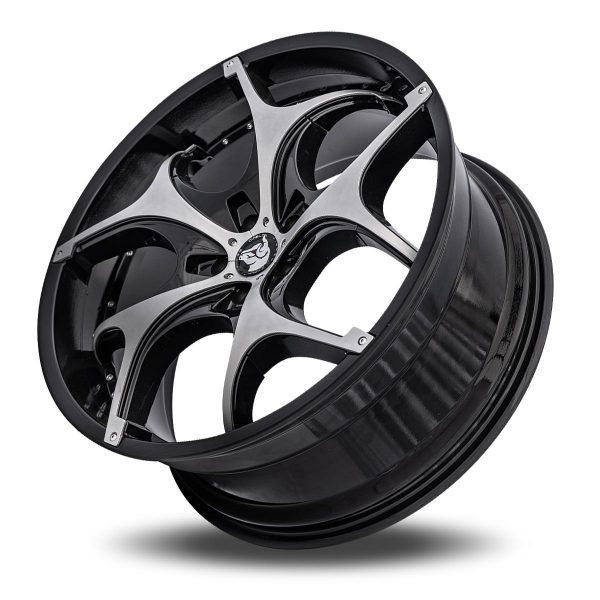 Diablo Tork Aftermarket Wheel – Black with Chrome Inserts