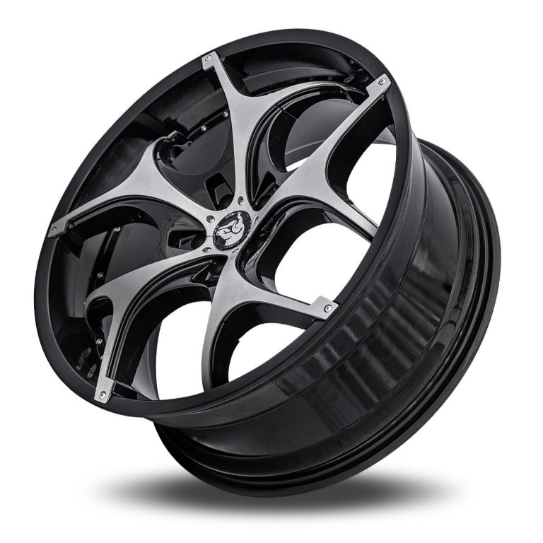 Diablo Tork Aftermarket Wheel - Black with Chrome Inserts